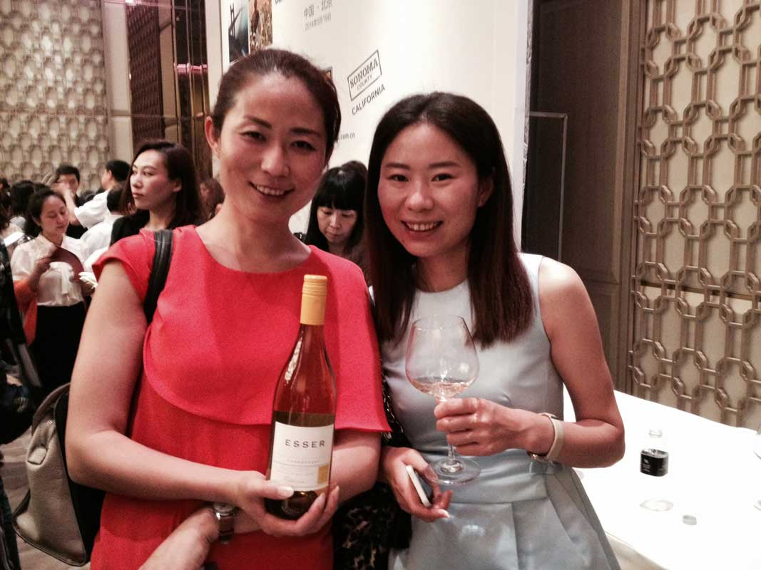 At the Beijing Wine Show with Esser Wines