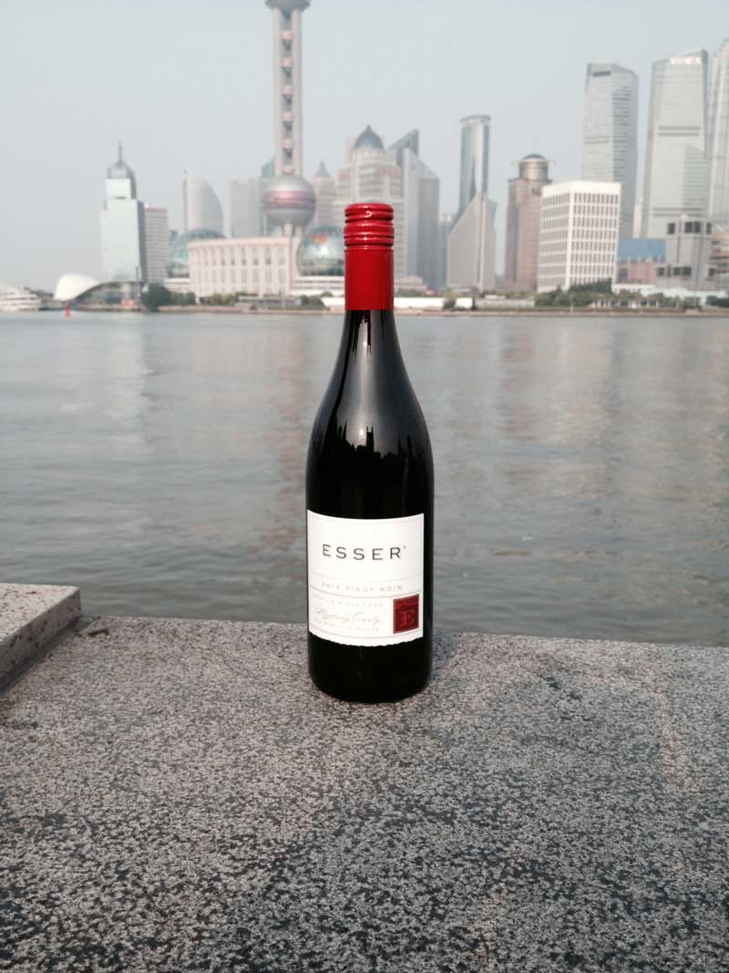 Esser Wines arrive at the Bund in Shanghai, China