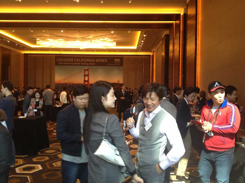Busy day of trade tastings at the Conrad Hotel, Seoul, South Korea