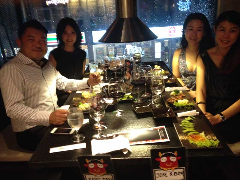 Our guests at GYUKINGU Japanese BBQ in Kuala Lumpur, Malaysia