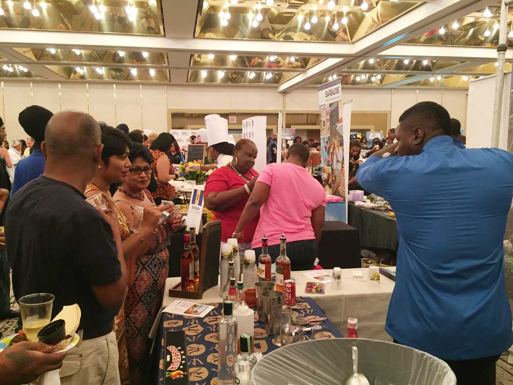 Having a great time at the Taste of the Caribbean, sponsored by Esser Wines