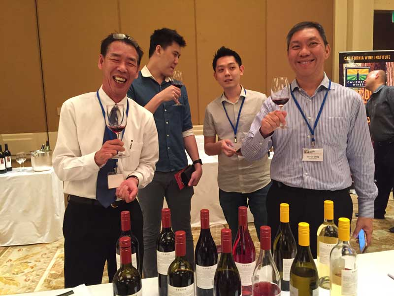 Trade tasting at the Conrad Hotel in Singapore
