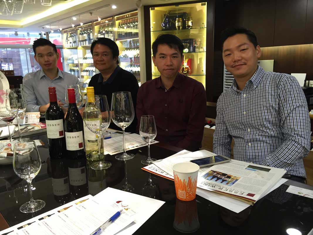 The Grand Crus Fine Wine Team in Hong Kong