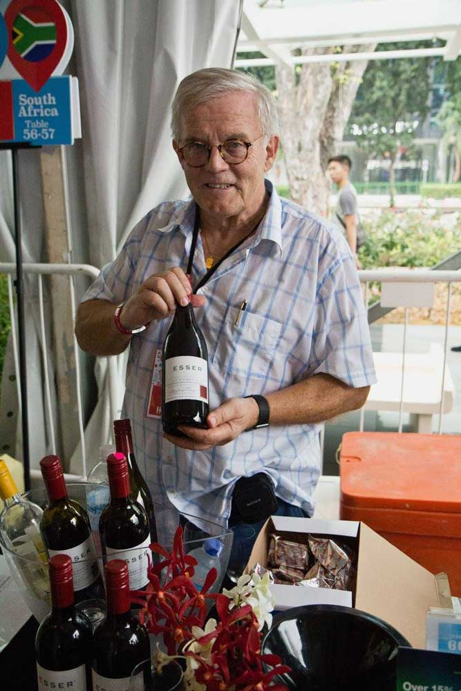 Our Own Peter Huwiler at the Wine Fiesta in Singapore